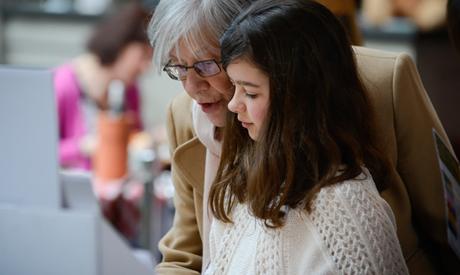 Gran and granddaughter